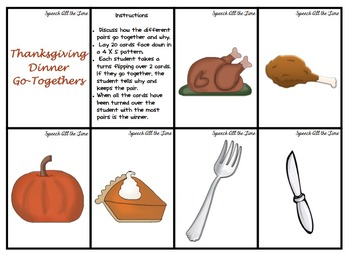 Thanksgiving Similarities and Differences/Go-Togethers
