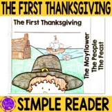 Thanksgiving Simple Flip Book Reading or Writing Activity