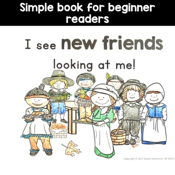 Thanksgiving Simple Reading for Kindergarten