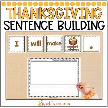 Thanksgiving Simple Sentence Building
