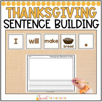 Thanksgiving Simple Sentence Building