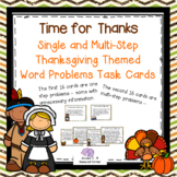 Thanksgiving Single and Multistep Word Problems Task Cards
