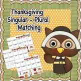 Thanksgiving Singular and Plural Nouns Worksheet