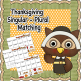 Thanksgiving Singular and Plural Nouns Worksheet
