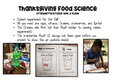Thanksgiving Sink and Float Experiment