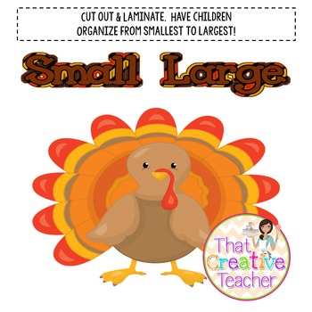Thanksgiving Size Activity