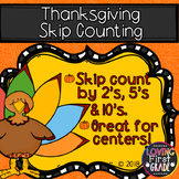 Thanksgiving Skip Counting 2's 5's & 10's