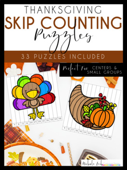 Thanksgiving Skip Counting Puzzles by Nichole L.