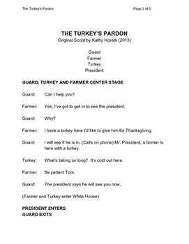 Thanksgiving Skit for Grades 3-6