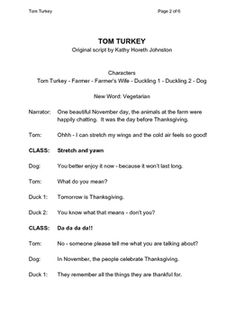Thanksgiving Skits for Grades k-3