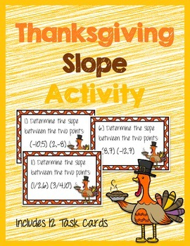 Thanksgiving Slope Activity (Task Cards)