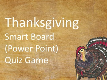 Thanksgiving Smart Board Quiz Game