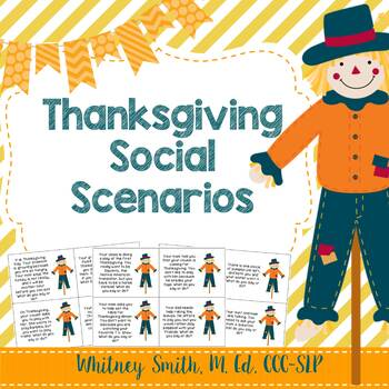 Thanksgiving Social Stories for Autism and Speech Therapy
