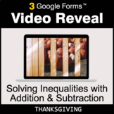 Thanksgiving: Solving Inequalities with Addition & Subtrac