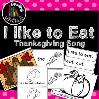 Thanksgiving Song (2 Emergent readers)  #dealsinOctober