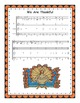 Thanksgiving Song and Round:  We Are Thankful (with mp3s) and Printables