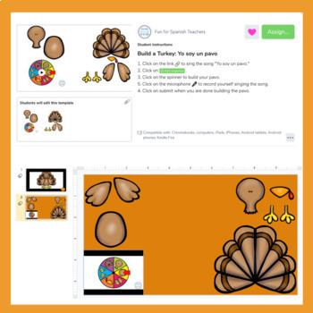 Thanksgiving Song & Activity Bundle
