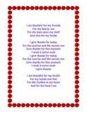 """Thanksgiving Song """"I Give Thanks"""" classroom piano voice"""