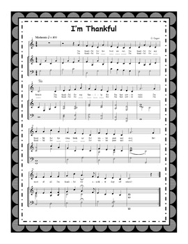 Thanksgiving Song: I'm Thankful (with mp3s) and Printables
