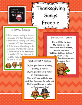 Thanksgiving Songs Freebie