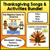 Thanksgiving Songs and Activities Bundle: Music Video, Mp3