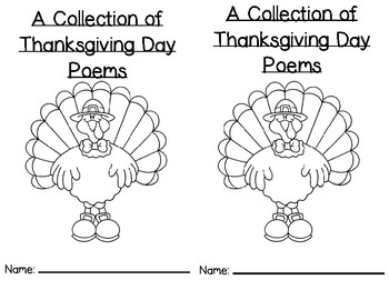 Thanksgiving Poems and Songs Book