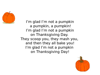 Thanksgiving Songs and Poems for Pre-K -- 1st Grade