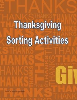 Thanksgiving Sort Activies