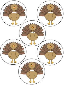 Thanksgiving Sort, Graph, and Record Math Center or Activity