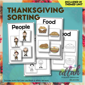 Thanksgiving Sorting Boards