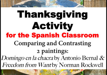 Thanksgiving Spanish Activity: Comparing 2 Paintings in Spanish