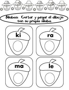 Thanksgiving Print and Go Spanish Literacy Fun:  Pre-K and Kindergarten