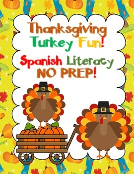 Thanksgiving Print and Go Spanish Literacy Fun:  Pre-K and