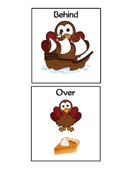 Thanksgiving Spatial Concepts - PDF