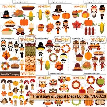 Thanksgiving Special Clip Art Mega Bundle (9 packs)