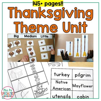Thanksgiving Thematic Unit For Special Education (Autism Resource)