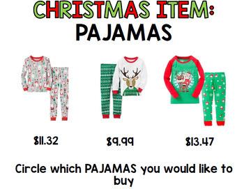 Christmas - Special Education - Shopping - Budget - Life Skills - Money - Math