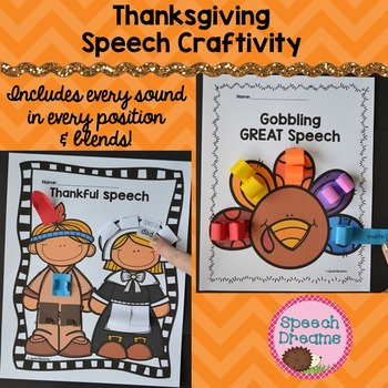 Thanksgiving Speech Therapy Crafts