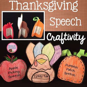 Thanksgiving Speech Freestanding Craft {articulation craftivity}