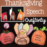 Fall Thanksgiving Speech Craft {articulation craftivity}