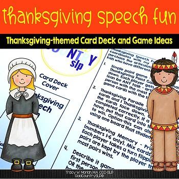 Thanksgiving Speech Fun