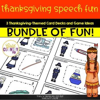 Thanksgiving Speech Fun BIG Bundle