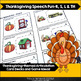 Thanksgiving Speech Fun for R, S, L and Th