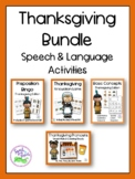 Thanksgiving Speech & Language Activities Bundle
