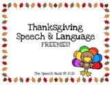 Thanksgiving Speech & Language Freebies