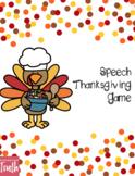 Thanksgiving Speech-Language Game
