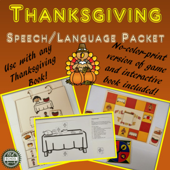 Thanksgiving Speech/Language Activities for Any Book Companion