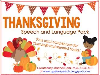 Thanksgiving {Speech & Language Pack} plus mini-book companions