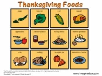 Thanksgiving Speech Therapy Activities: Descriptive Vocabulary