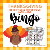 Thanksgiving Speech Therapy Activities: Receptive and Expressive Language Bingo